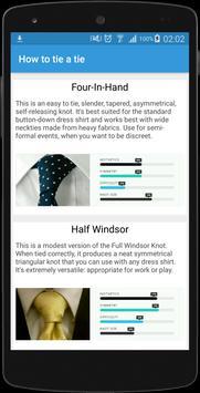 How to tie a tie screenshot 1