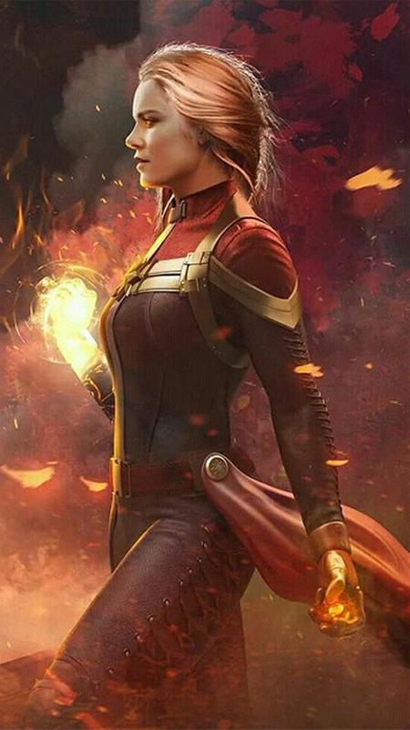 ... Captain Marvel Live Wallpaper screenshot 3 ...