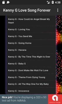Kenny G Love Song Forever apk screenshot