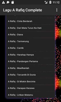 Lagu A RAFIQ Terpopuler apk screenshot