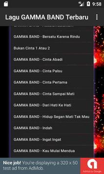 Lagu GAMMA BAND Terbaru apk screenshot