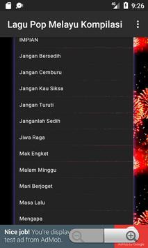 Lagu Pop Melayu Kompilasi screenshot 6