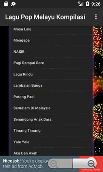 Lagu Pop Melayu Kompilasi screenshot 7