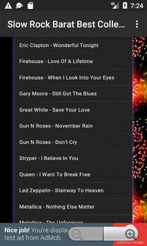 Lagu Slow Rock Barat Collection apk screenshot