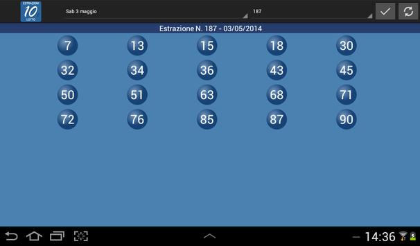 Estrazioni del 10 e Lotto 5' screenshot 5