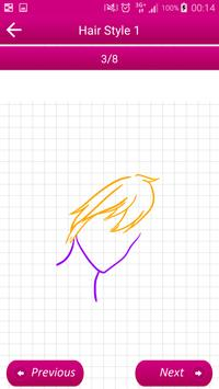 Learn To Draw Hairstyles II screenshot 2