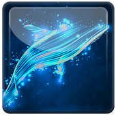 Beautiful Neon Dolphins LWP icon