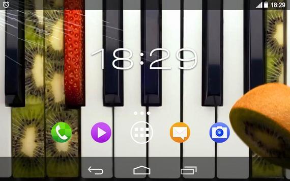 Kiwi Strawberry Piano Live WP apk screenshot