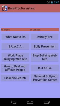BullyProofAssistant:anti-bully poster