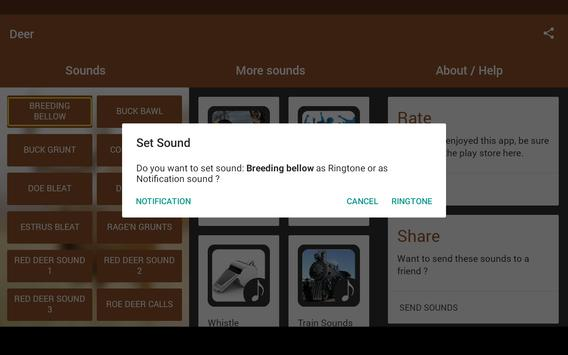 Deer Sounds apk screenshot