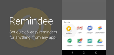 Remindee - Create reminders from any app!