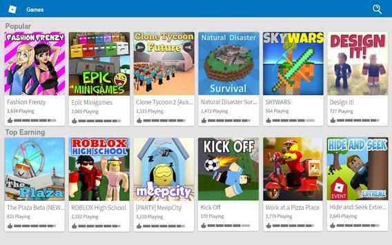 Roblox скриншот приложения