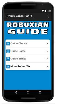 Robux Guide For Roblox 2017 poster