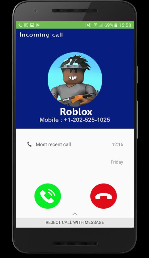 Fake Call Prank Roblox 2018 For Android Apk Download