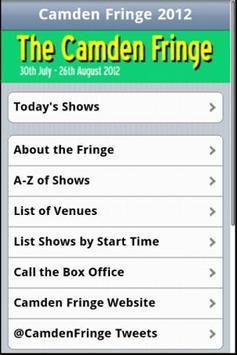 The Camden Fringe 2012 poster
