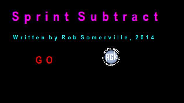SprintSubtract poster