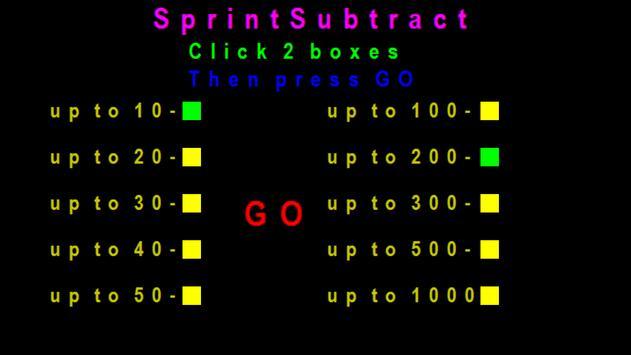 SprintSubtract screenshot 1