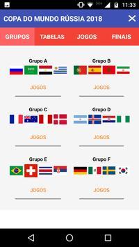 Tabela Copa do Mundo Rússia 2018 screenshot 1