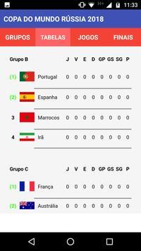 Tabela Copa do Mundo Rússia 2018 screenshot 2