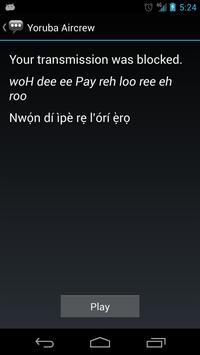 Yoruba Aircrew Phrases apk screenshot