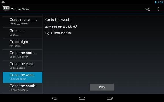 Yoruba Naval Phrases apk screenshot