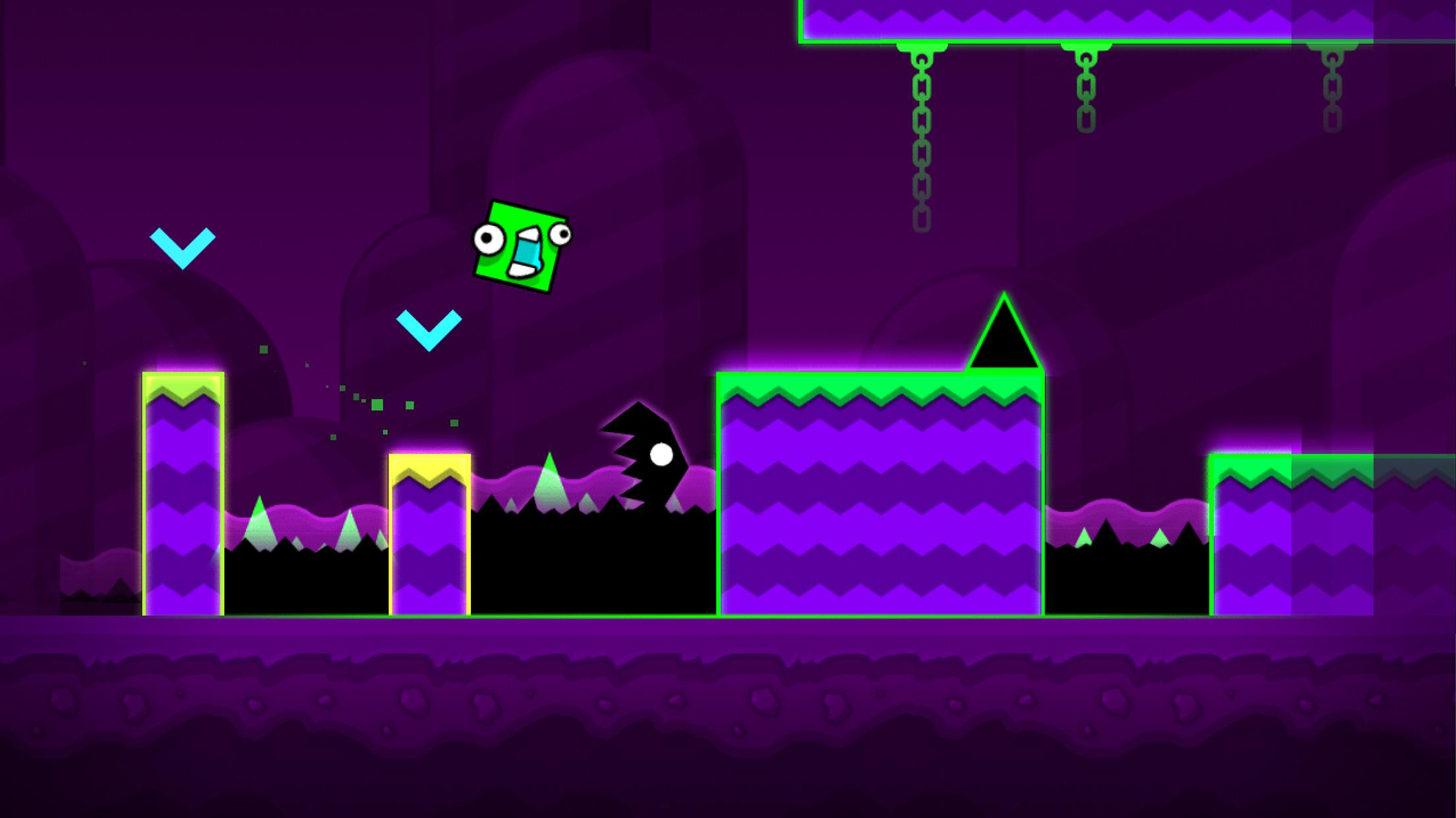 Geometry Dash World Apk Download Adventure Game With New Levels New Music And New Monsters