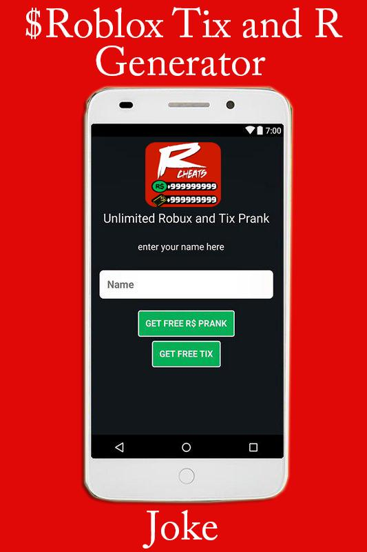 Roblox Free Tix and R$ Generator Rubox for Android - APK
