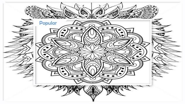 Awesome Mandala Coloring Pictures screenshot 3