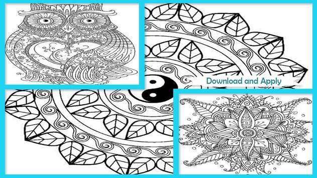 Awesome Mandala Coloring Pictures screenshot 1