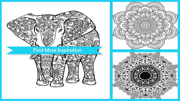 Awesome Mandala Coloring Pictures screenshot 2