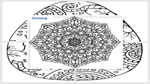 Awesome Mandala Coloring Pictures screenshot 4