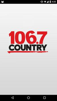 COUNTRY 106.7 Kitchener poster
