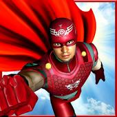 Flying Superhero Pet Rescue City icon