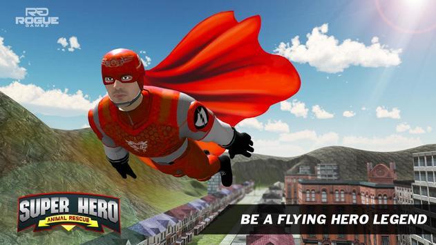 Flying Superhero Pet Rescue City apk screenshot