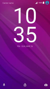 Flow Berry Theme for Xperia poster