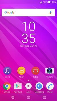 Flow Berry Theme for Xperia screenshot 1