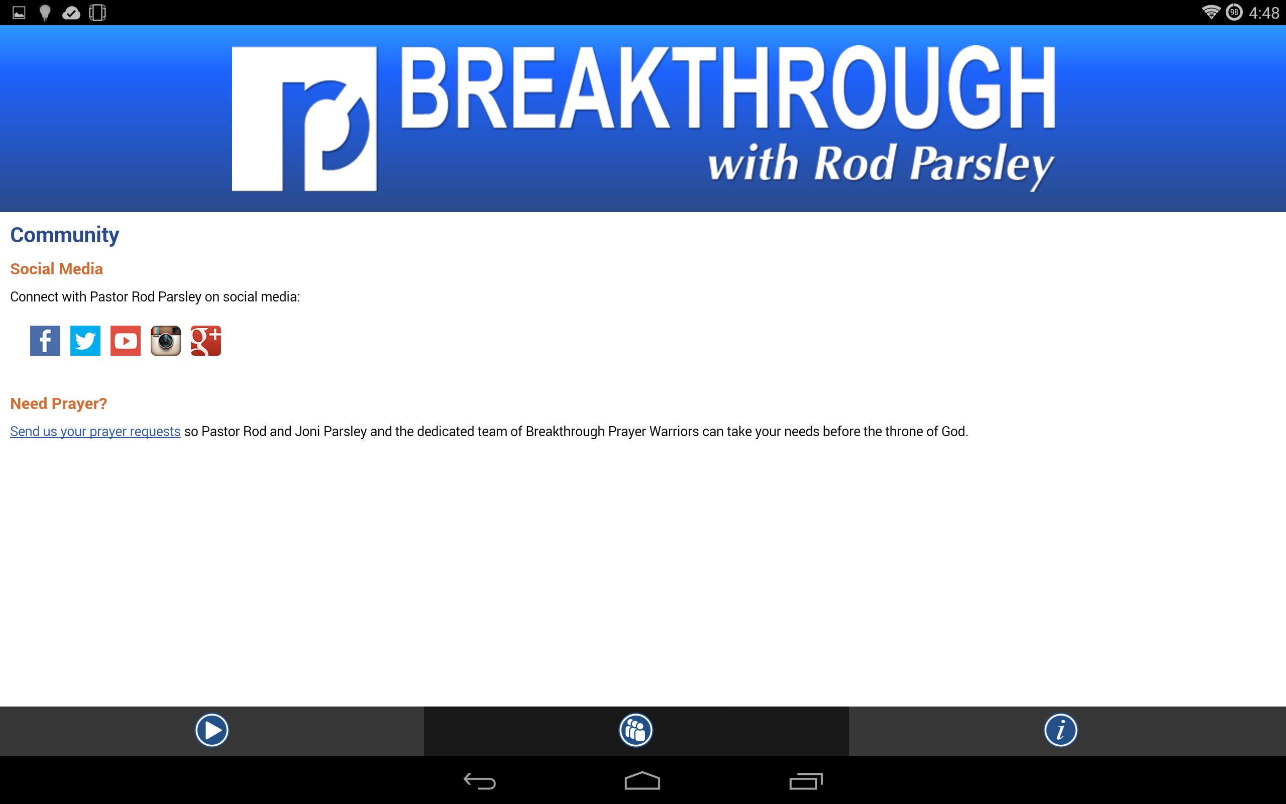 Breakthrough Intercessors Prayer Request