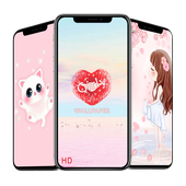Girly wallpapers HD icon