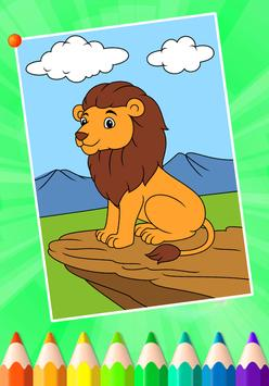 Animals Coloring Book Games Poster