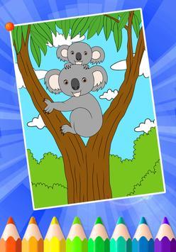 Animals Coloring Book Games Poster Screenshot 1