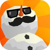 Sledge - snow mountain slide icon