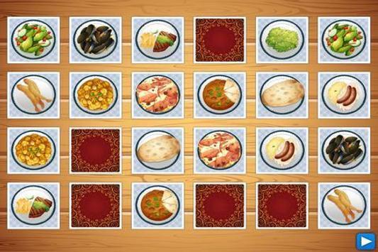 Dish Memo Game For Kids screenshot 3