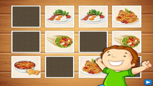 Dish Memo Game For Kids screenshot 12