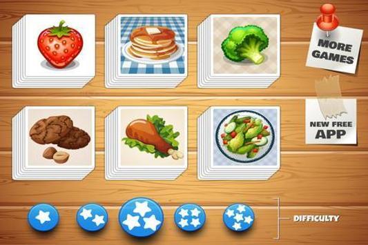 Dish Memo Game For Kids screenshot 1