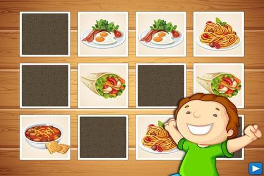 Dish Memo Game For Kids screenshot 2