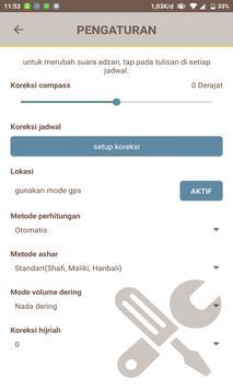 jadwal sholat dan Arah Qiblat screenshot 2