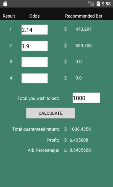 Download arbitrage betting calculator money optimal 3 betting