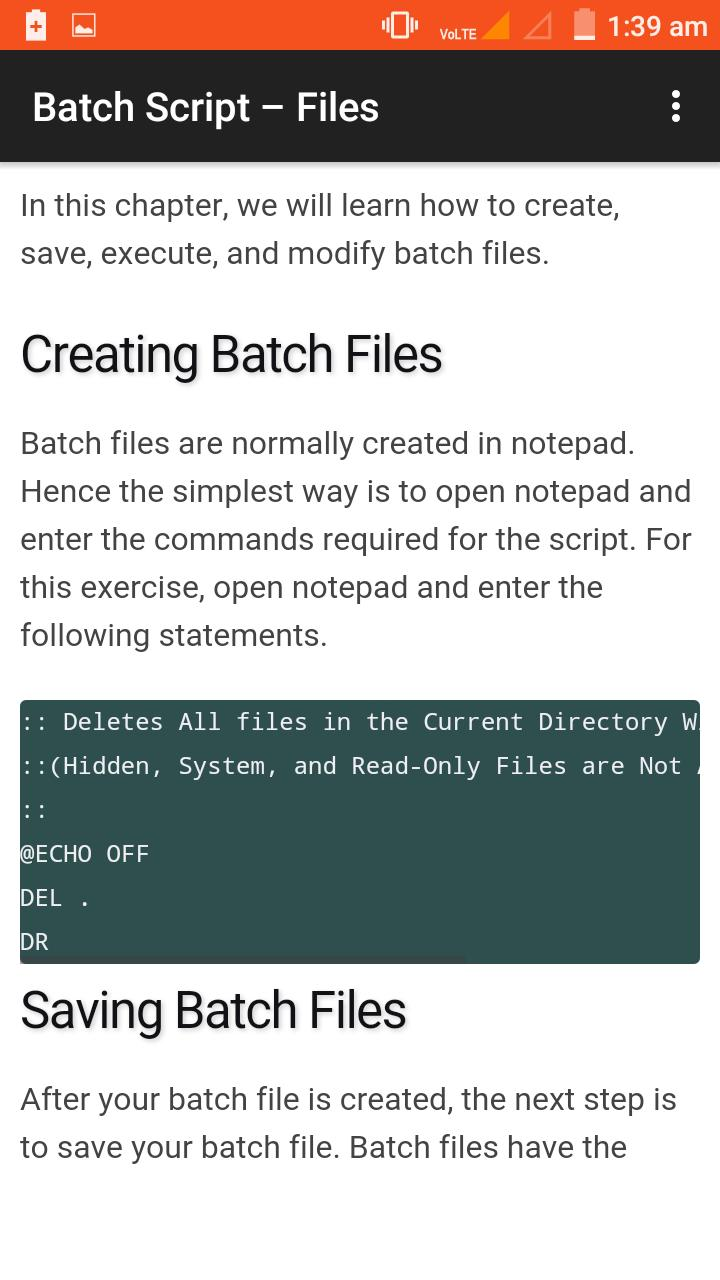 Batch Tutorial for Android - APK Download