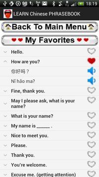 Learn Chinese Phrasebook apk screenshot
