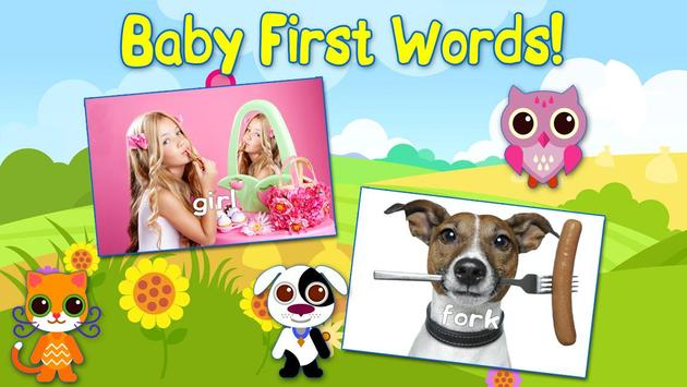 Baby First Words Book 1 Free poster